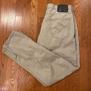 Levi's Original 514 Tan Jeans Men's Pants 34x32